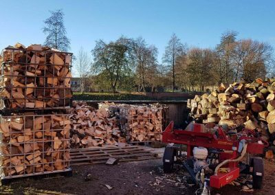 from logs to firewood