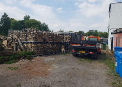 IBC crates of seasoned firewood for delivery in Manchester area